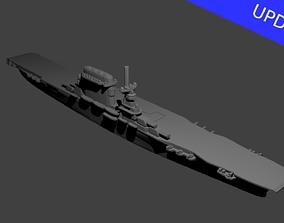 Lexington Class Aircraft Carrier 3D print model