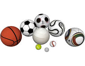 3D model Sports Balls Collection