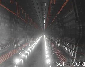 Spaceship Corridor 3D