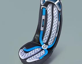 3D model ergon Conceptual Monocoque Pilot Chair