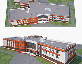 3D School and landscape
