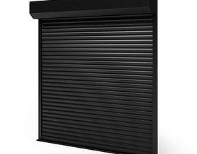 Black Roller Door 3D
