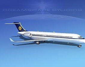 Comac ARJ21-700 Myanmar Airlines 3D model