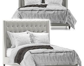 Arhaus devereaux tufted bed 3D
