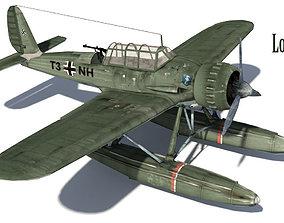 Airplane WW2 Arado Ar 196 3D asset