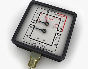 Water and steam pressure gauge 3D model