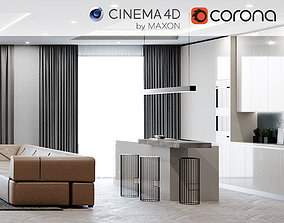 Corona C4D Scene files - Modern Minimalist Home Scene 1