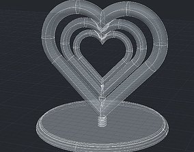 3D print model A nice rotating hearts statue