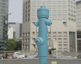 irrigation 3D model Fire Hydrant VAG -2- High-Poly Version
