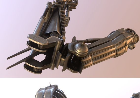 Rigged Robot Arms Blender-2 82a Version