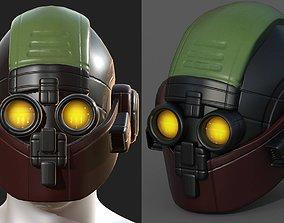 realtime Helmet scifi military combat 3d model low
