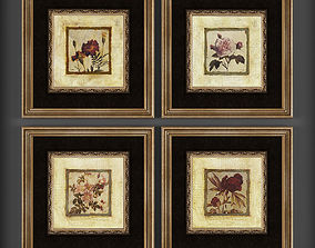 pictures Picture Frames 3D asset low-poly