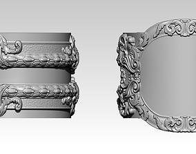 Carved Floral Pattern Rings US5 3D printable model