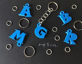 symbol 3d letters for keychain and more