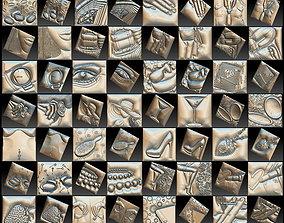 Set Women Theme Basorelief for CNC 3D Router artcam