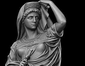 replicas 3D printable model Lady with dagger Statue