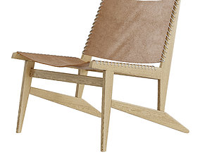West Elm Commune Leather Sling Chair 3D model