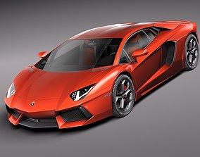 3D model Lamborghini Aventador 2012