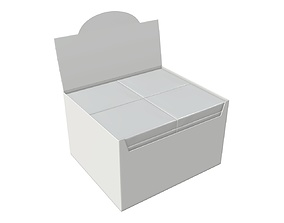 Package blank white with waffle wraps mock up 03 3D model