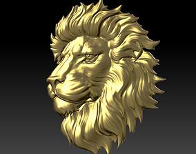 3D printable model wild lion head