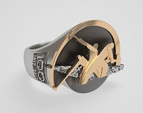 3D printable model Hammers ring - 100 - original