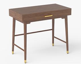 3D model Zola Desk walnut veneer
