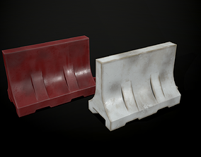 Old Plastic barrier 3D asset