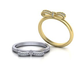 Gold Bow ring 0213 3D print model