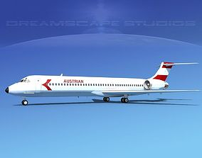 3D model McDonnell Douglas MD-87 Austrian