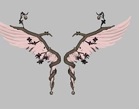 Flower Wing 3D asset
