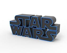 3D printable Star Wars logo