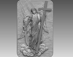 3D printable model angel Gabriel Archangel cnc Relief cnc
