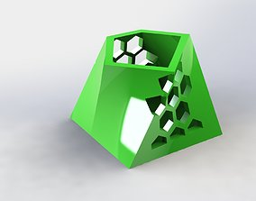 3D printable model Angular Pen Holder Hive