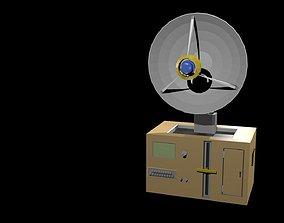 3D asset Low poly satellite dish 1