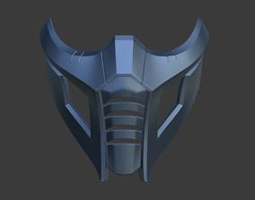 Sub Zero cyber shinobi mask from Mortal 3D print model 4