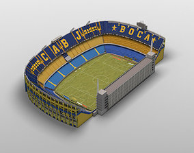 3D model Low-poly Boca Juniors Stadium
