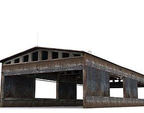 3D model low-poly Hangar