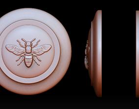 Honey bee bas-relief 3D printable model