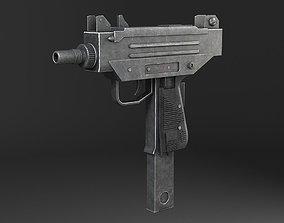 Uzi Pistol Submachine Gun 3D asset