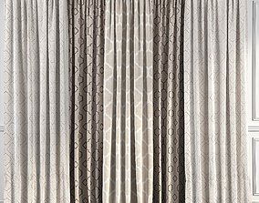 3D model Curtain Set 46