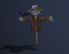 3D model animated Scarecrow