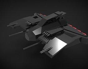 Spaceship 01 3D asset