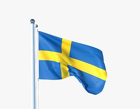 3D model Animated Flag of Sweden