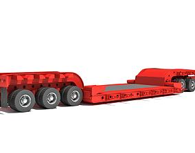Lowboy Trailer 3D model