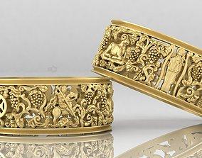 3D print model Georgian Rings
