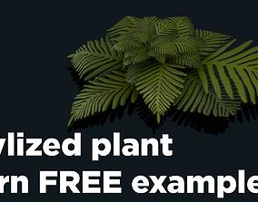Stylized Plant Fern 3D asset