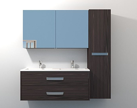3D Bathroom Cabinet with Sink 001 drawer