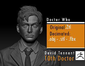 David Tennant - 10th Doctor - Doctor 3D printable model