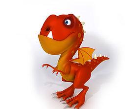 3D model Dragon cartoon myth