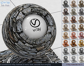 Architectural Vray materials for 3dsMax - Stone Brick 1